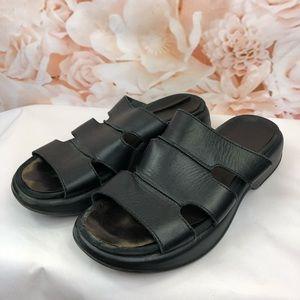 Dansko Black leather sandals size women's 12